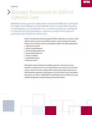 Healthcare Spss
