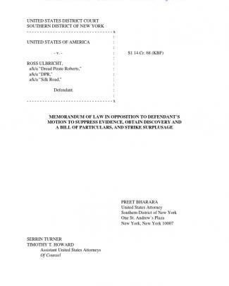 Court Docs Detail How Fbi Located Silk Road Servers/surveillance Of Ross Ulbricht
