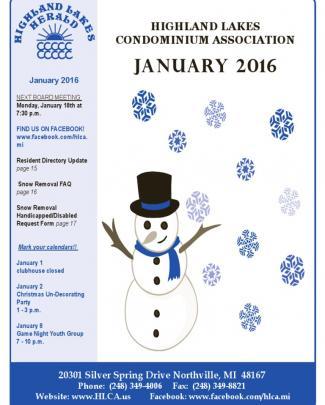 January 2016 Herald