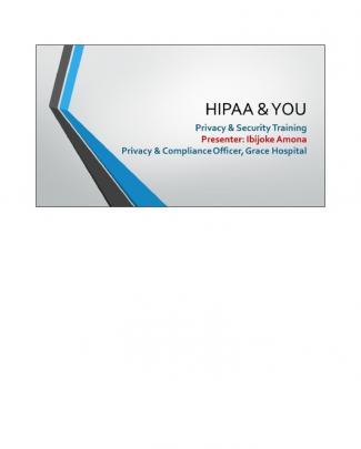 Hipaa & You  Notes