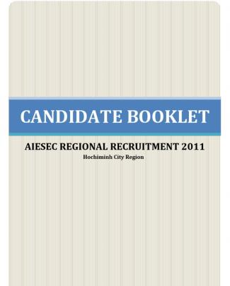 Candidate Booklet