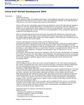 China Voip Market Development 2005
