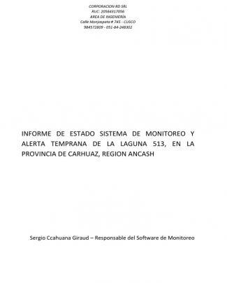 Informe Sismonitoreo Estado Noviembre